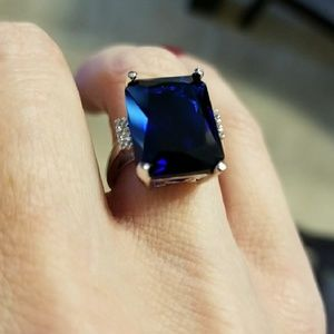 Jewelry - 🔥1DAY SALE 5 CT.SAPPHIRE RING STERLING SILVER